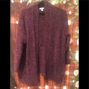 Croft & Barrow thick knit purple cardigan sweater